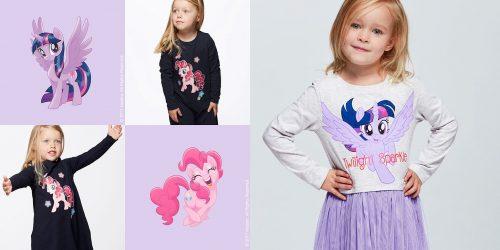 mała dziewczynka w ubrankach cubus z kolekcji my little pony