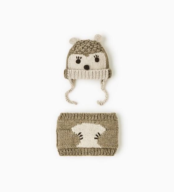 Czapka zimowa niemowlęca