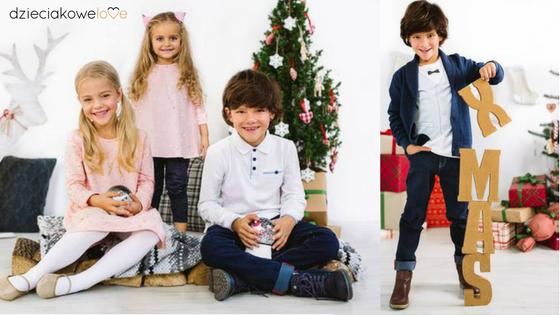 dzieci w świątecznych stylizacjach