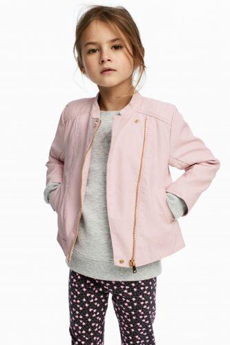 Różowa ramoneska dla dziewczynki