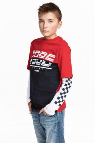 Bluzka z długim rękawem dla chłopca