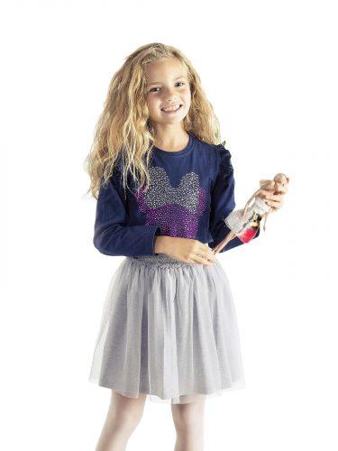 Bluzka z długim rękawem dla dziewczynki