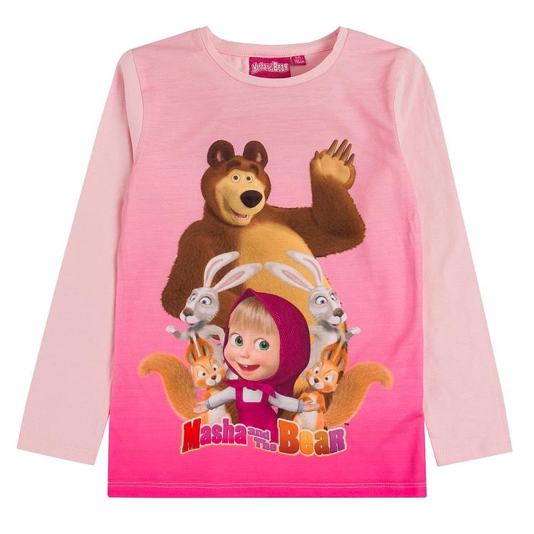 Bluzka z bohaterami bajki Masha i Niedźwiedź