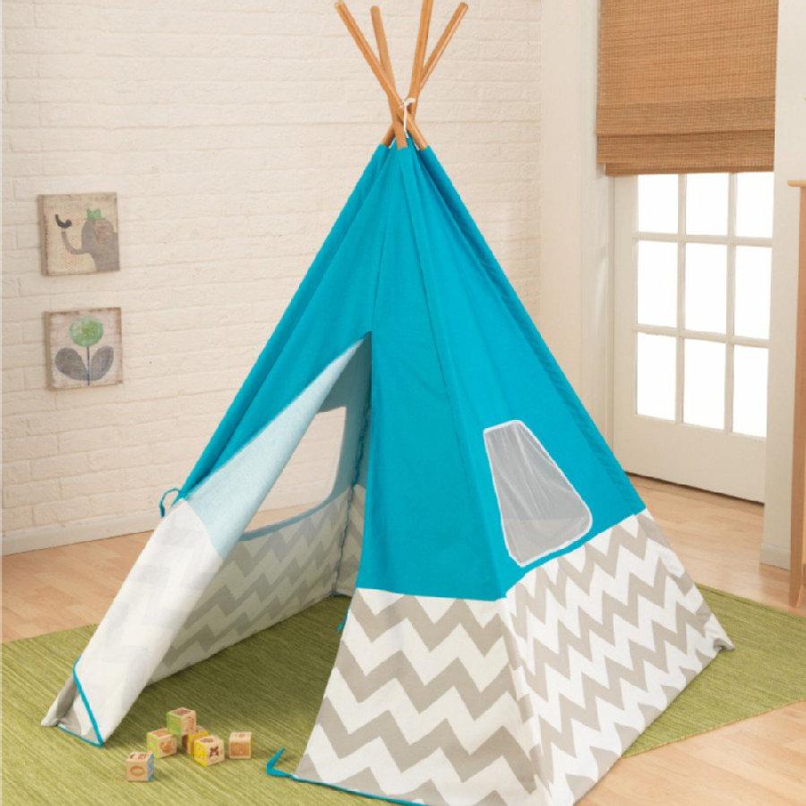 kolorowe tipi dla dziecka, namiot z pinkorblue