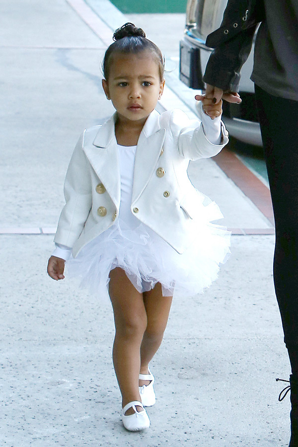 Styl North West, córki Kim Kardashian i Kanyego Westa