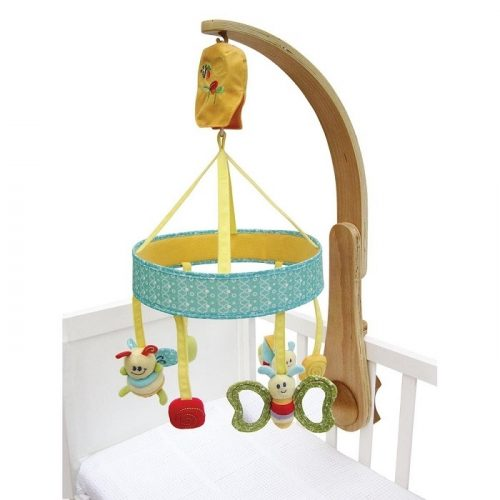 Interaktywna karuzela do łóżeczka, różne kolory, przegląd