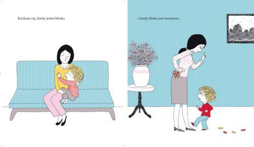 Książka dla dzieci Miłość Desbordes Astrid środek