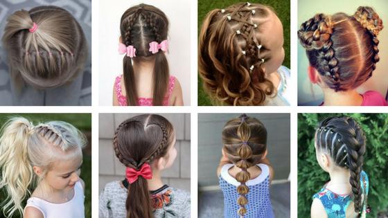 Elegancka fryzura dla dziewczynki