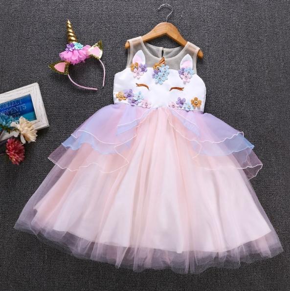 stroj na balik sukienka księżniczki jednorożec