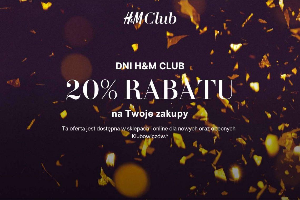 promocja w hm hm club 20% rabat