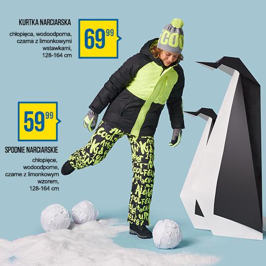 spodnie narciarskie kurtka narciarska odzież narciarska pepco