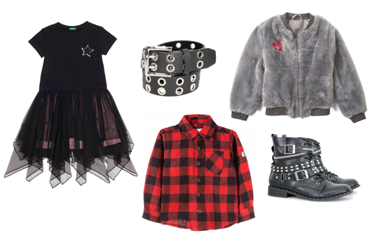 rockowa stylizacja dziewczynki mała lady punk